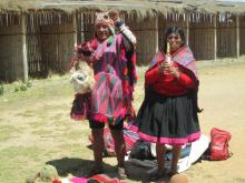 ANDRES & ASUNTA PACCO'S (SHAMANS) FROM QUERO COMMUNITY IN A RITUAL AND CEREMOMNY OF OFFERING TO PACHAMAMA – MOTHER EARTH